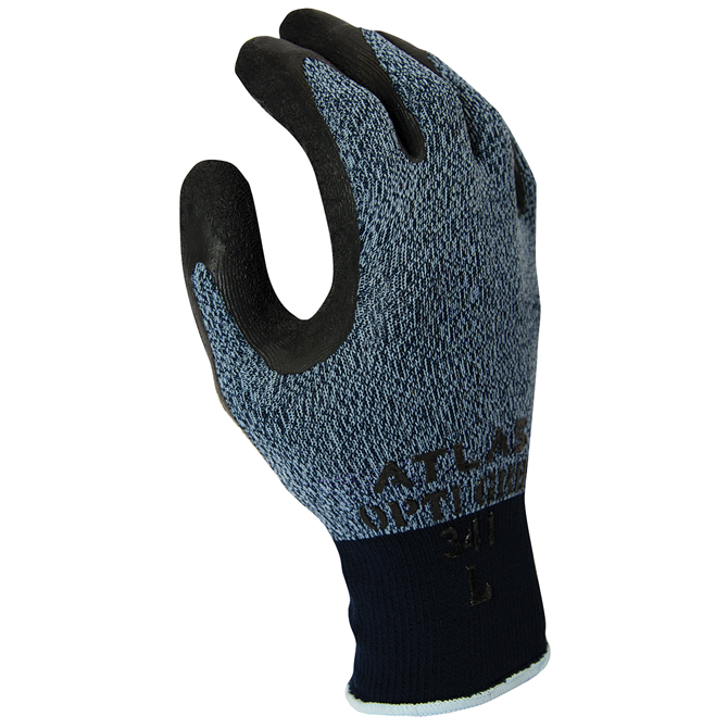 10 x Pairs of SHOWA 341 Advanced Breathable Grip Gloves Latex Coated Glove