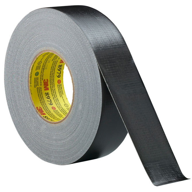 "3M 8979 Duct Tape - 2"" x 60 yds., Black, 24 Rolls/Case"