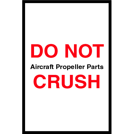 4 x 6 do not crush labels red with black print 500roll