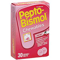 Pepto-Bismol® Chewables- Cherry flavor, protective coating action and relief, 30 Each/Box