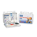 "North® by Honeywell Wall Mount Bulk First Aid Kit- 5""x 8""x 2 3/4"", 10 Person, White, Plastic"