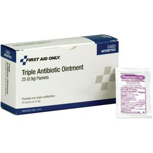First Aid Only® Triple Antibiotic Ointment-  9g Per Package, 25/Box