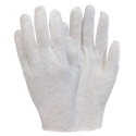 The Safety Zone® GIMW-MN-1SP Inspection Gloves - White Cotton, Medium Weight, Size MENS, 12 Pairs