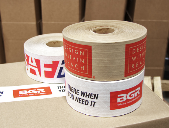 Custom Printed Reinforced Kraft Paper Tape Bgr